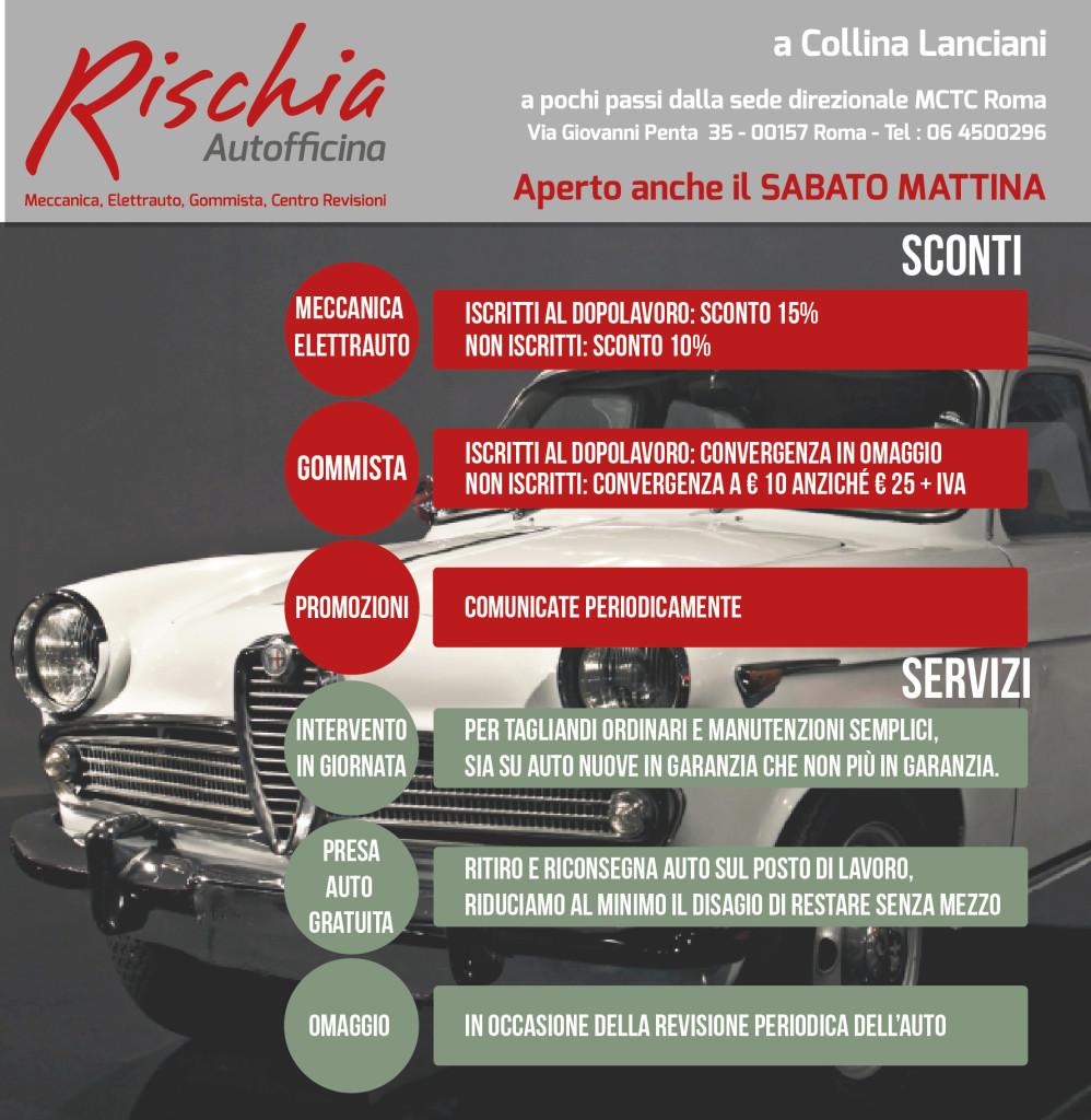 Accordo autofficina rischia con mctc roma rischia for Posto auto coperto con officina annessa